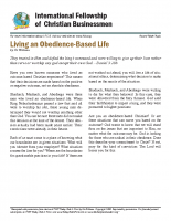 Living Obedience-based Life