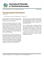 Necessity of the desert