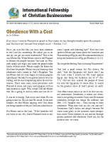 Obedience with a cost