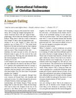 A Joseph Calling